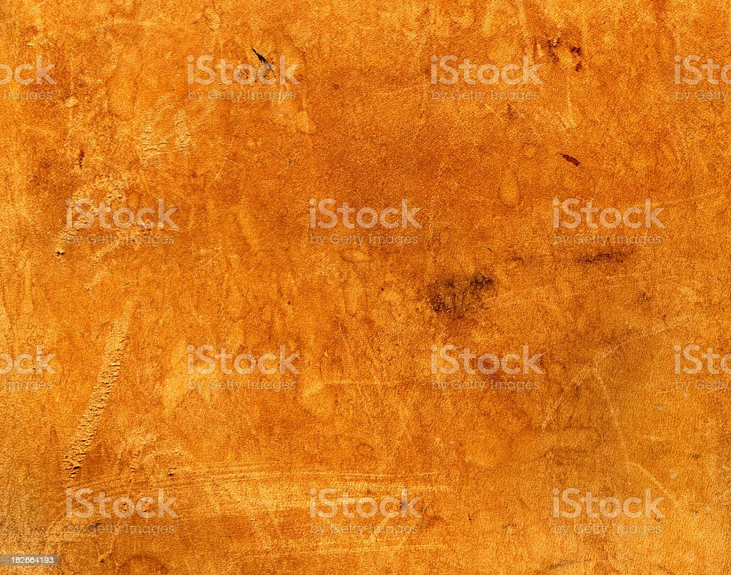 Scuffed brown leather texture royalty-free stock photo