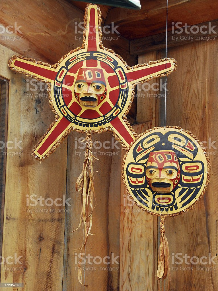 Sculpted Totems royalty-free stock photo