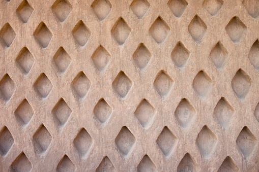 Sculpted Wall Pattern At Chan Chan In Trujillo, Peru