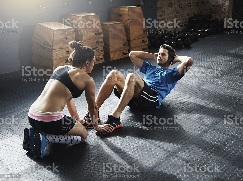 Sculpting great abs for summer stock photo