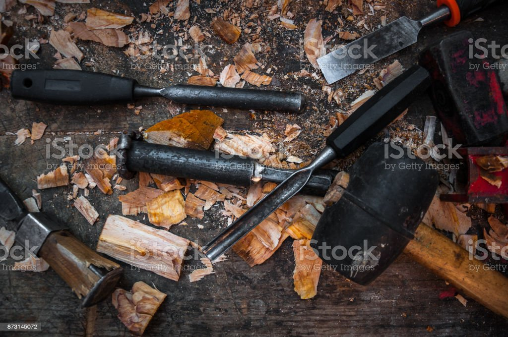 Sculptor tools stock photo