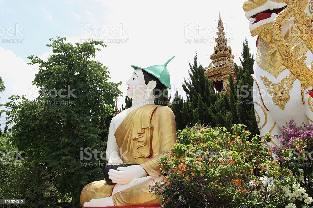 Sculpture, architecture and symbols of Buddhism, Thailand. photo libre de droits