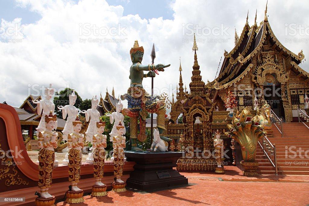 Sculpture, architecture and symbols of Buddhism, Thailand. photo libre de droits