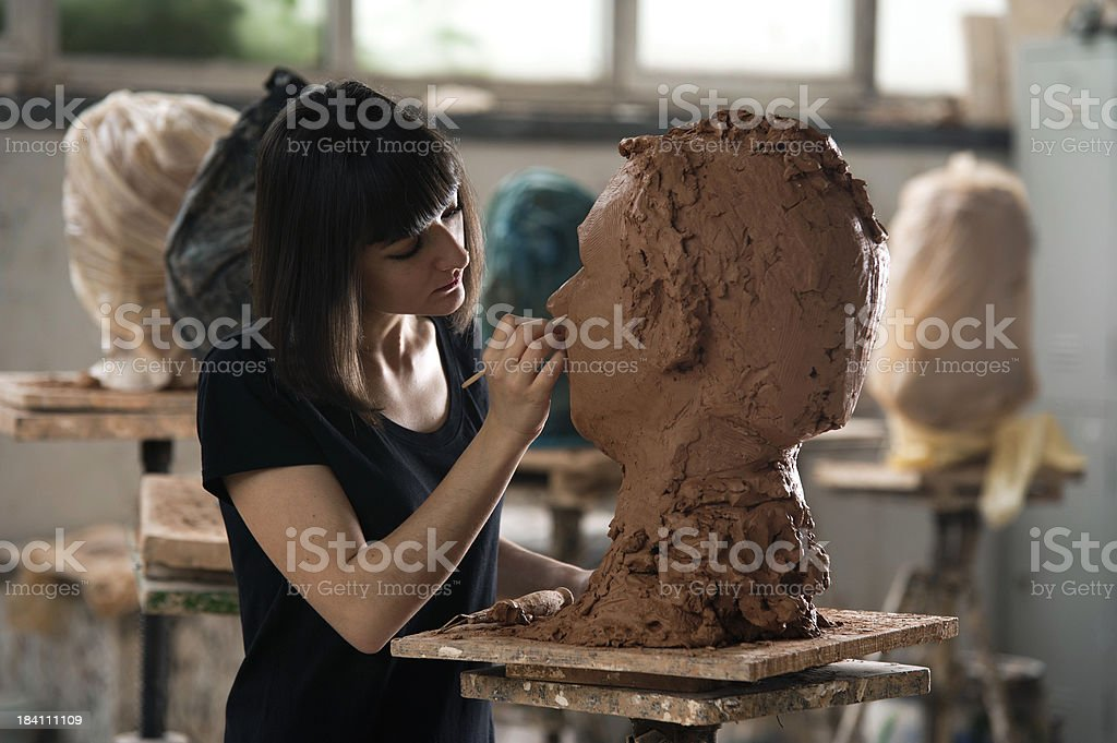 Sculpture Artists royalty-free stock photo