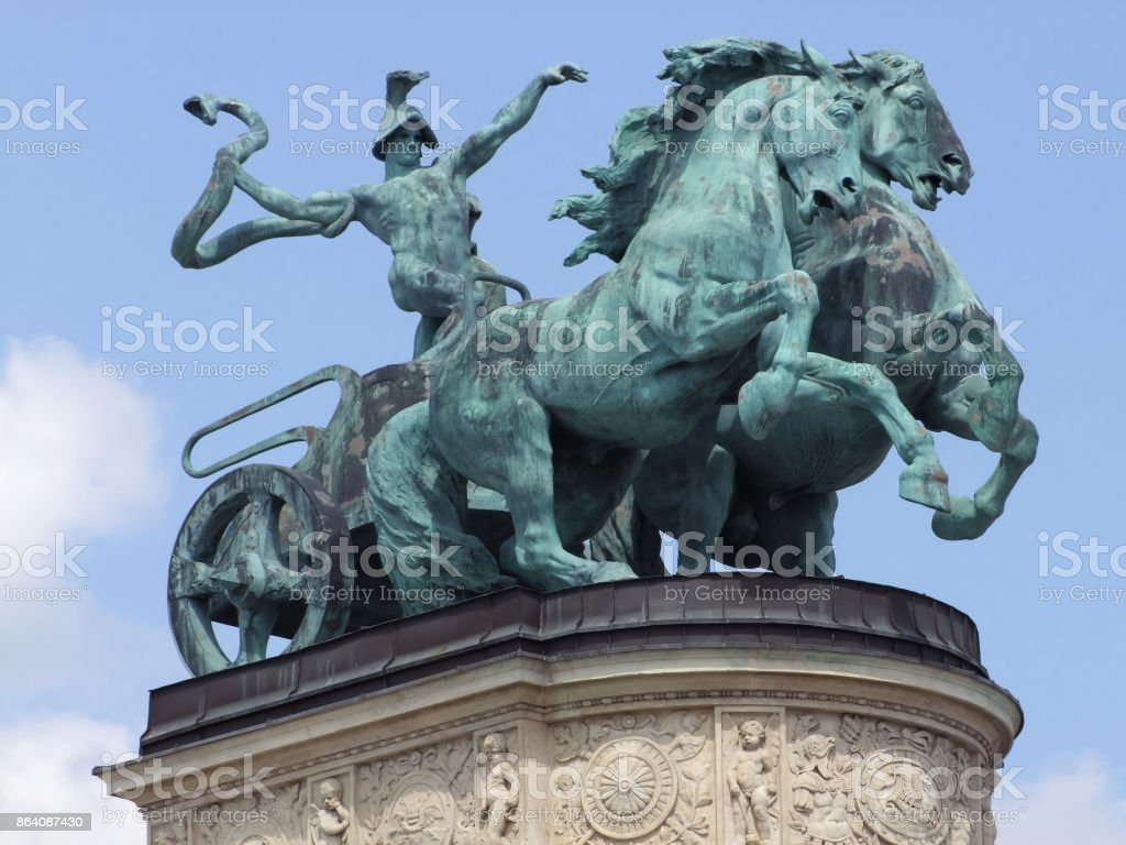 sculpture at Heroes square royalty-free stock photo