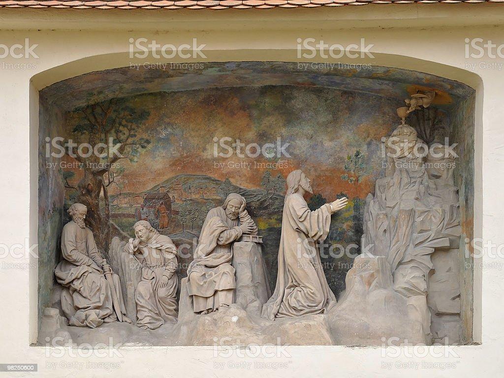 sculpture at portal porta coeli,Czech republic royalty-free stock photo