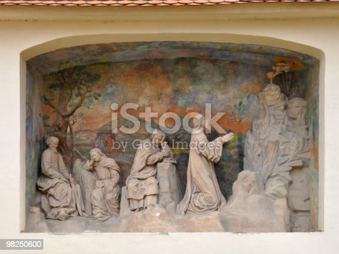 Sculpture At Portal Porta Coeliczech Republic Stock Photo & More Pictures of Baroque Style