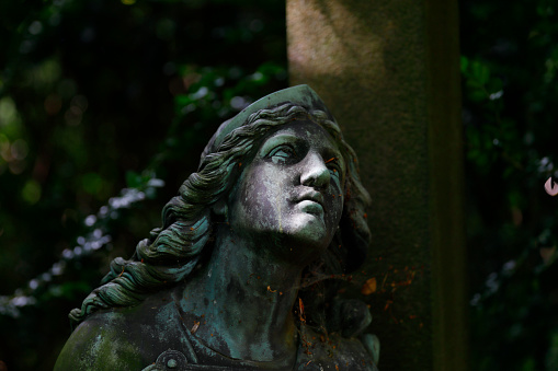 Sculpture at the Ohlsdorf Cemetery, Hamburg, Germany