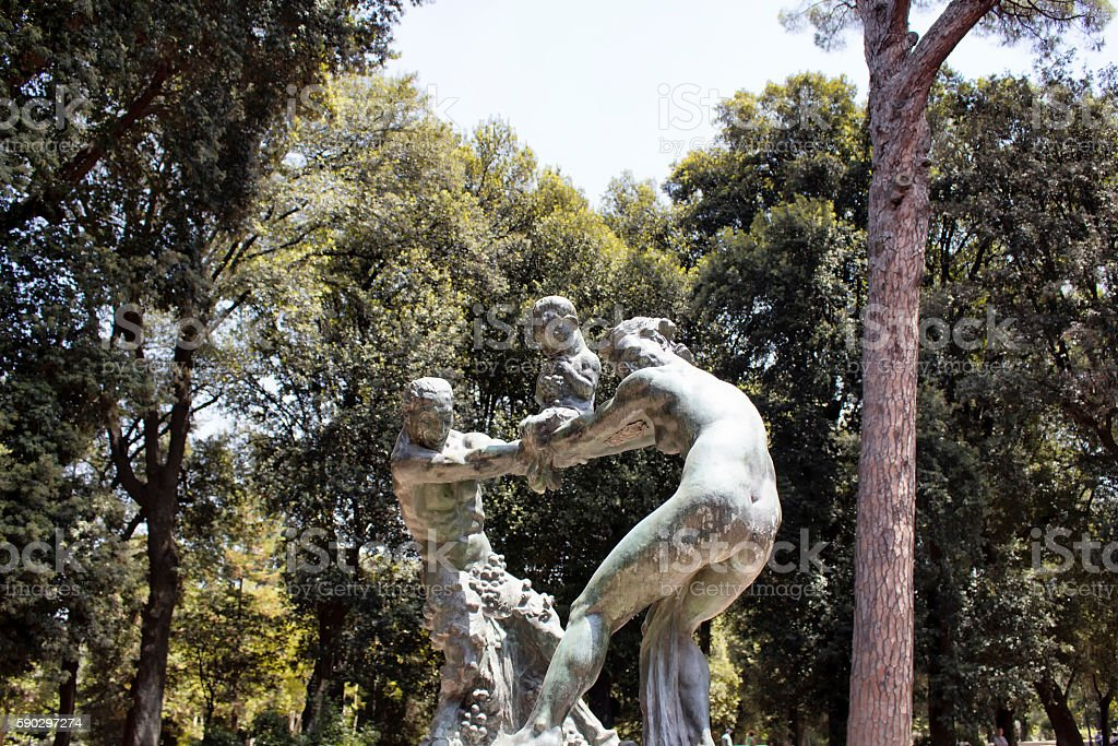 Sculpture at Villa Borghese garden in Rome Стоковые фото Стоковая фотография