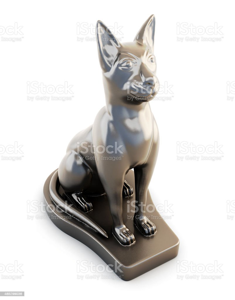Sculpture cats stock photo