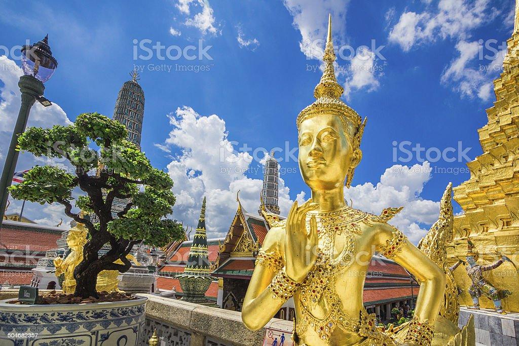 Sculpture Grand palace also called Wat Phra Kaew in Bangkok stock photo