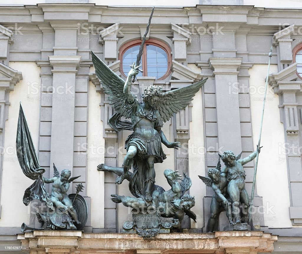 Sculpture in Augsburg royalty-free stock photo