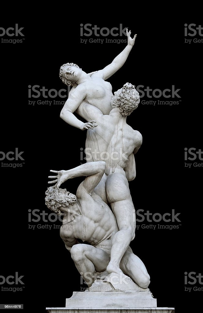 Sculpture in Florence,Italy (Clipping path) royalty-free stock photo
