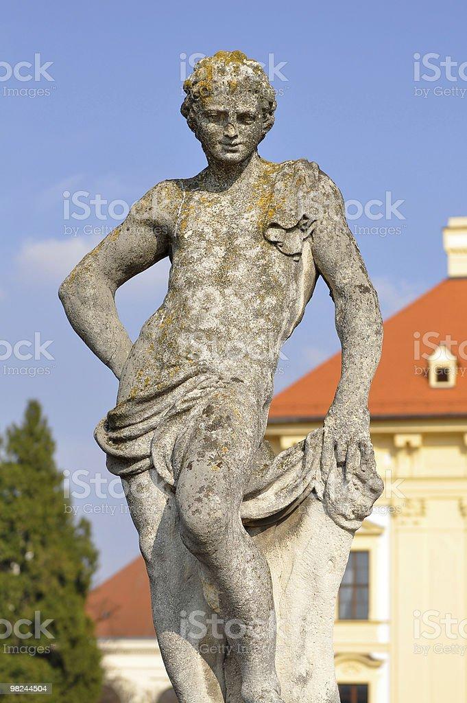 sculpture in garden of Slavkov castle royalty-free stock photo