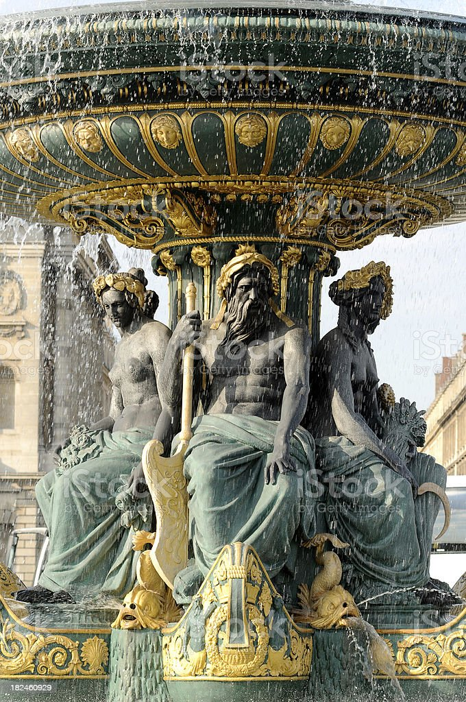 sculpture in paris france royalty-free stock photo