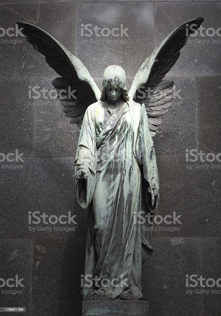 Sculpture of an angel stock photo