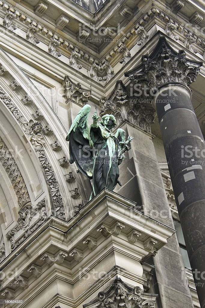 sculpture of angel royalty-free stock photo