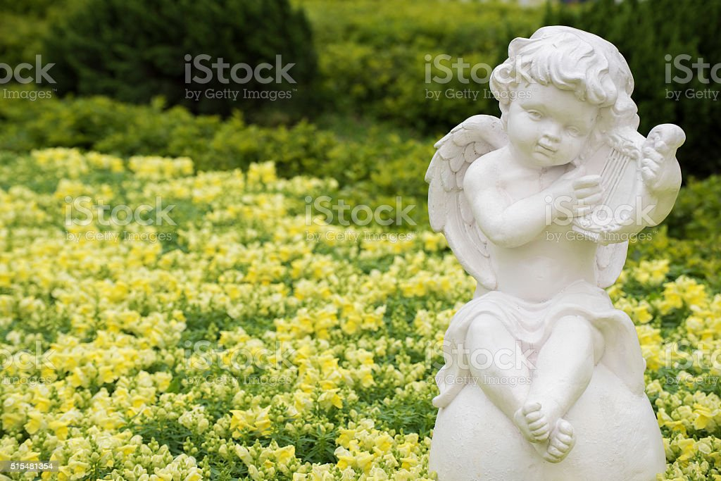 Sculpture of angel stock photo