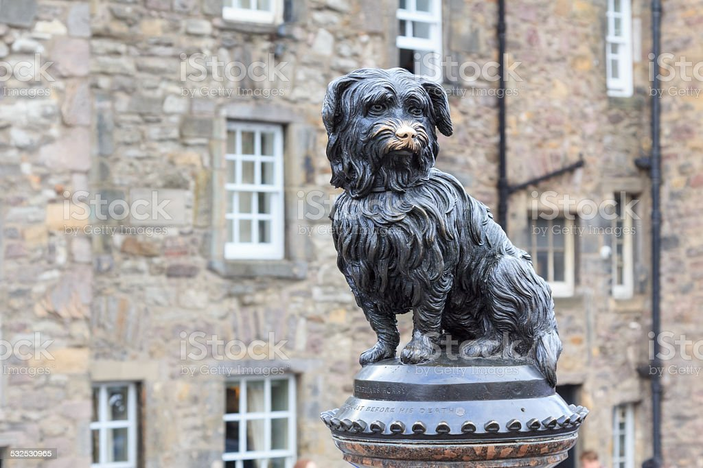 Sculpture of Greyfriars Bobby stock photo