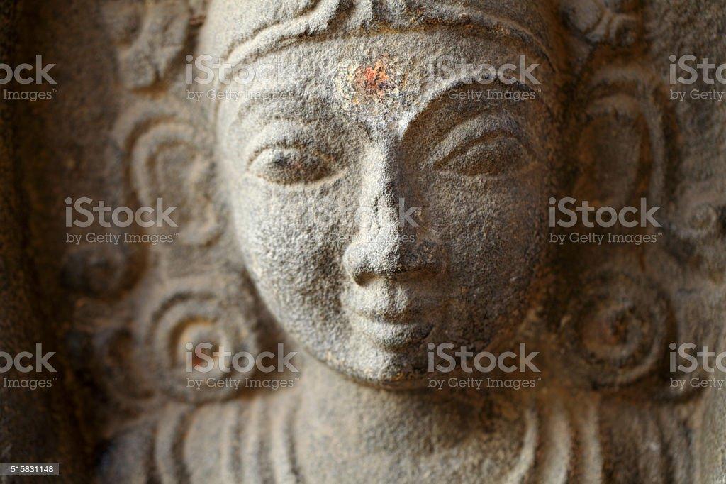 Sculpture of Hindu Goddess at Kapaleeshwarar Temple stock photo