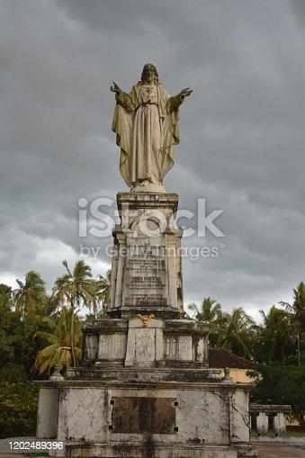 istock Sculpture of Lord jesus in Goa 1202489396