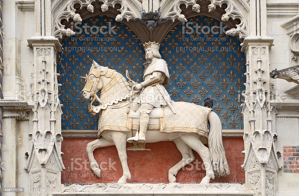 Sculpture of Louis XII royalty-free stock photo