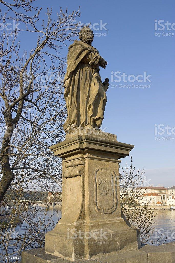 Sculpture of Saint Judas Thaddeus, Prague, Czech Republic stock photo