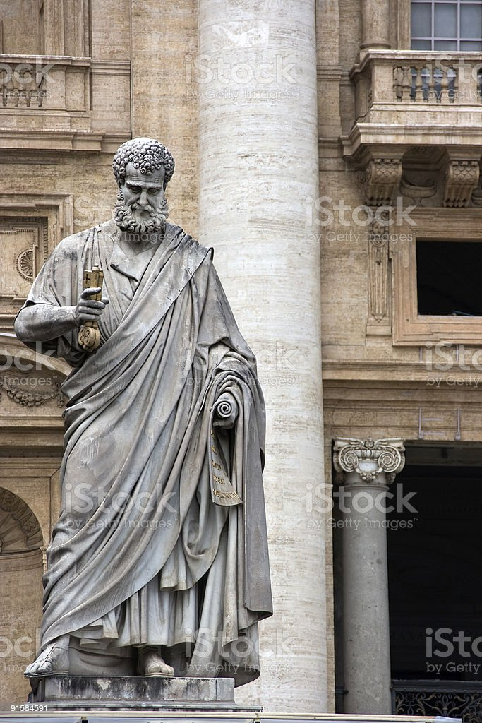 Sculpture of St. Peter royalty-free stock photo