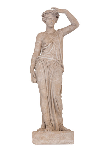 istock Sculpture of the ancient Greek god Ceres isolated. 1163127344
