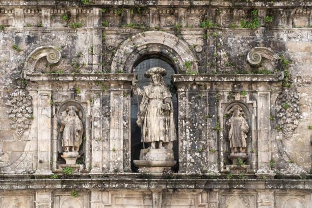 Sculpture of the Apostle Santiago stock photo