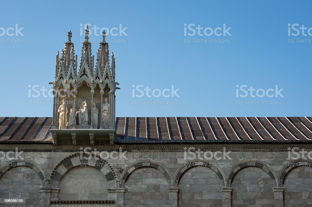 Sculpture on Camposanto Monumentale royalty-free stock photo