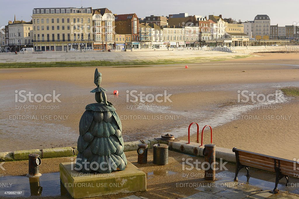 Sculpture on harbour side. Margate. Kent. England stock photo