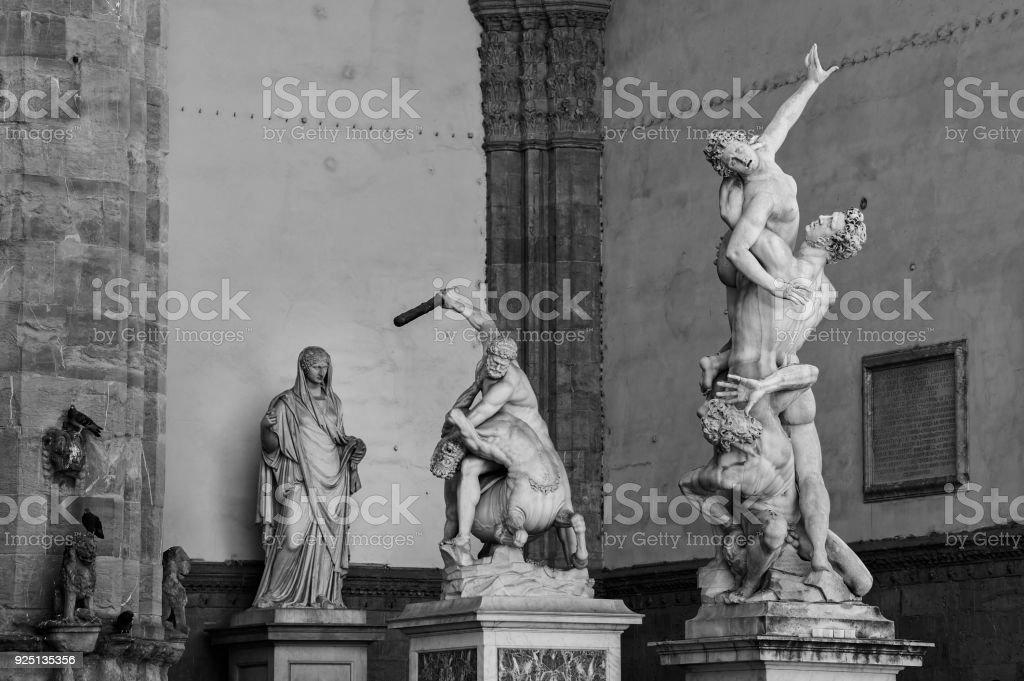 Der Raub der Sabinerinnen, Hercules und der Zentaur Skulptur – Foto