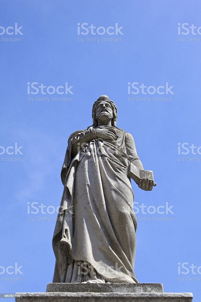 Sculpture with Bible royalty-free stock photo