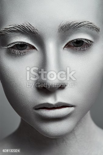 istock Sculpture Woman. Fashion Model with perfect Skin 628132024
