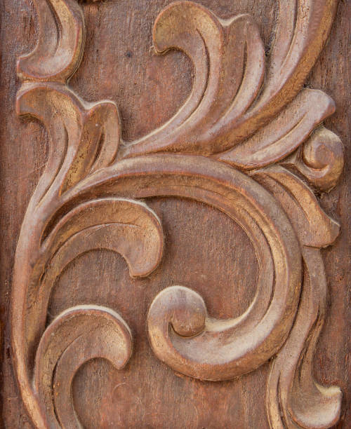 Sculpture Wood Stock Photo