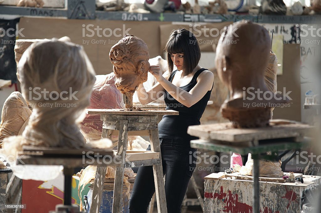 Sculpture Workshop stock photo
