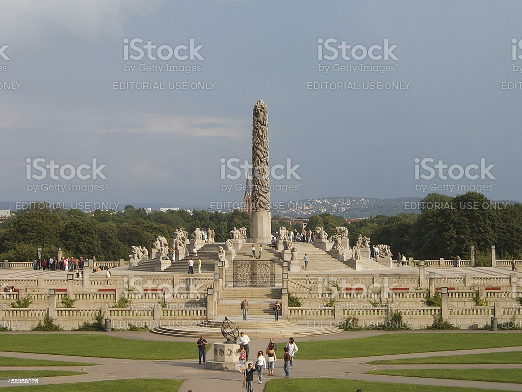 Sculptures and Vigeland, Oslo, Norway stock photo