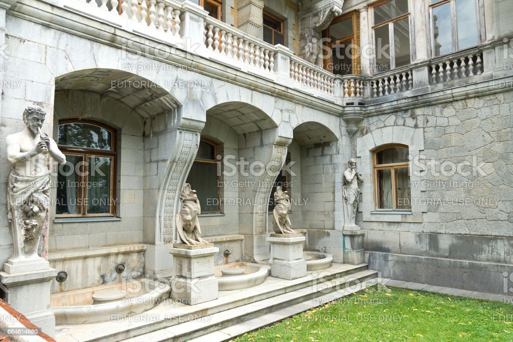 MASSANDRA, CRIMEA, RUSSIA - JUNE 09.2015: Sculptures Massandra Palace stock photo
