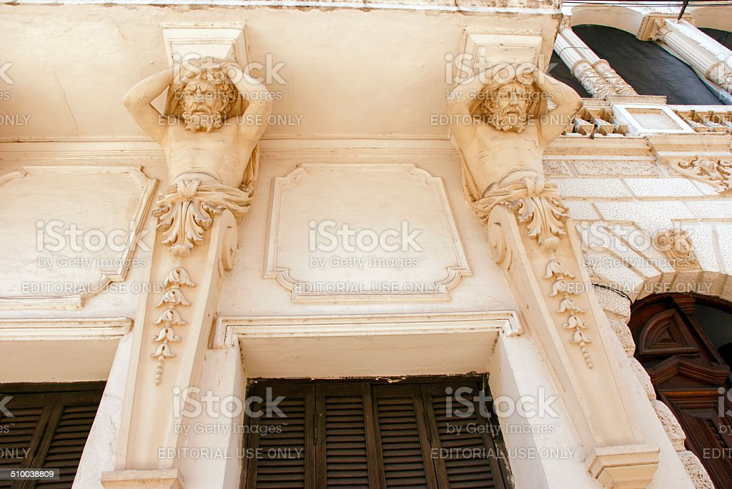Sculptures on Building stock photo