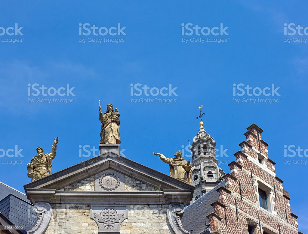 Sculptures on St. Paul's Church (Sint-Pauluskerk) in Antwerp, Belgium royalty-free stock photo