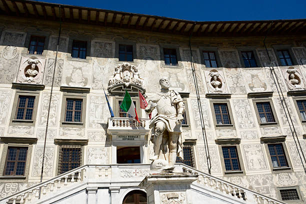 Scuola Normale of Pisa Facade of the famous Scuola Normale of Pisa, where he studied famous people of the past galileo galilei stock pictures, royalty-free photos & images