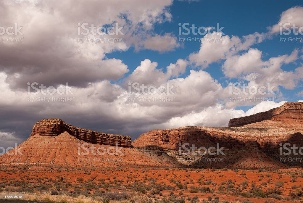 Scurrying Clouds over Hurricane Mesa royalty-free stock photo
