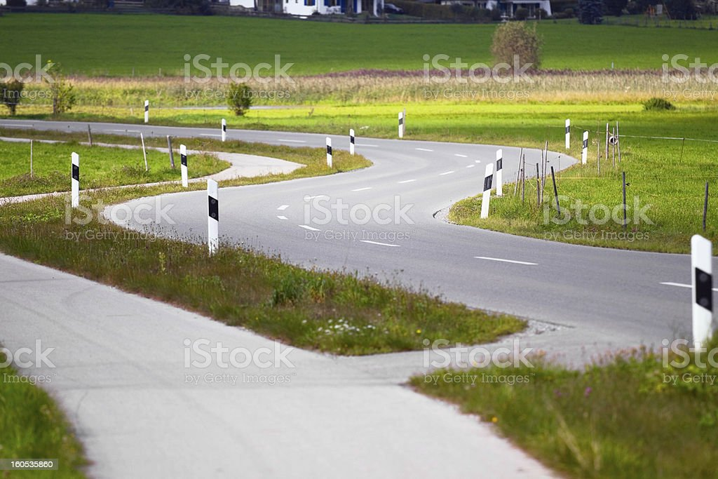 S-curved road royalty-free stock photo