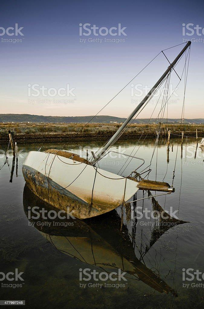 Führen Segelboot – Foto