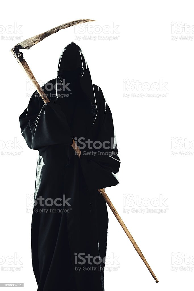 scytheman isolated stock photo