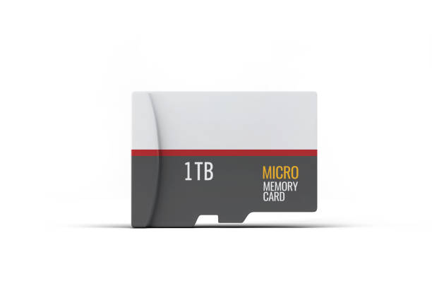 1tb sd memory card on white - memory card stock photos and pictures