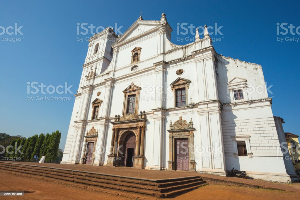 Se cathedral in Old Goa stock photo