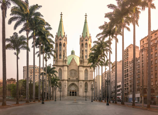 Se Cathedral-Sao Paulo, Brazil stock photo