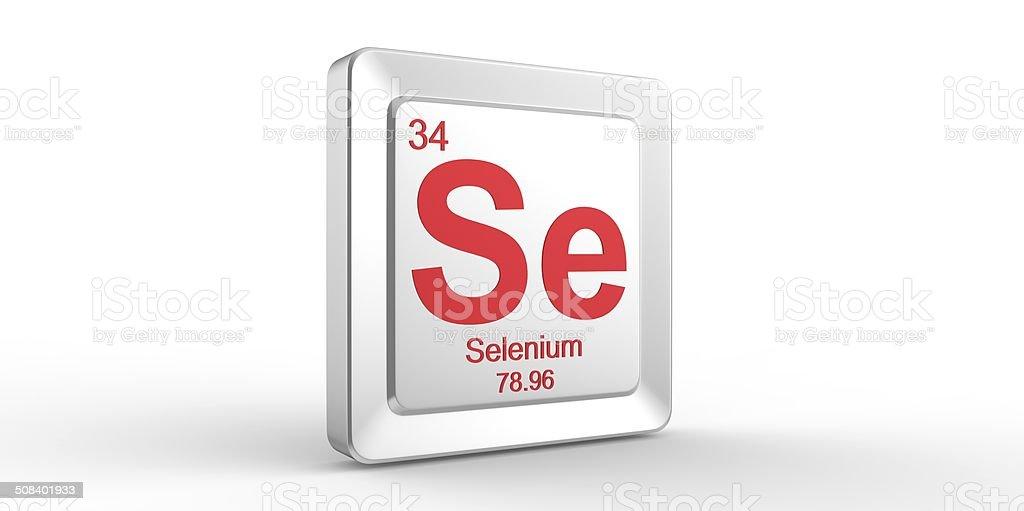 Se Symbol 34 Material For Selenium Chemical Element Stock Photo